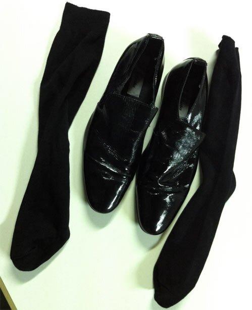 Туфли, чехлы, носки