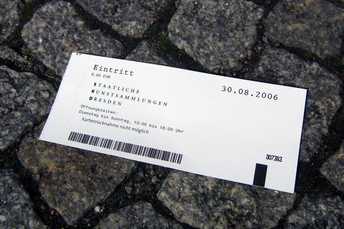 Билет в Staatliche Kunstsammlungen Dresden