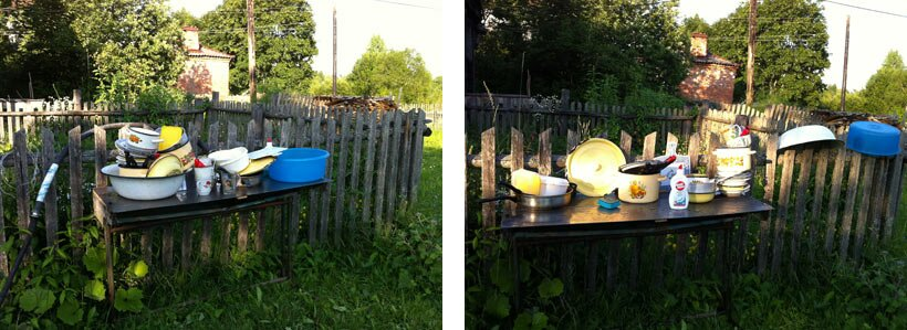 Гора грязной посуды и гора чистой, день первый