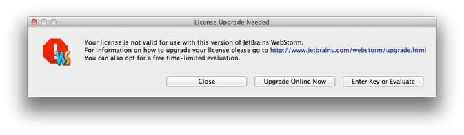 Принудительное продление подписки WebStorm