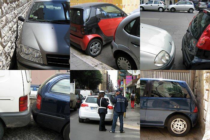 Бари: паркинг-коллаж